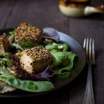 sesame-crusted-tofu-salad-spicy-peanut-dressing