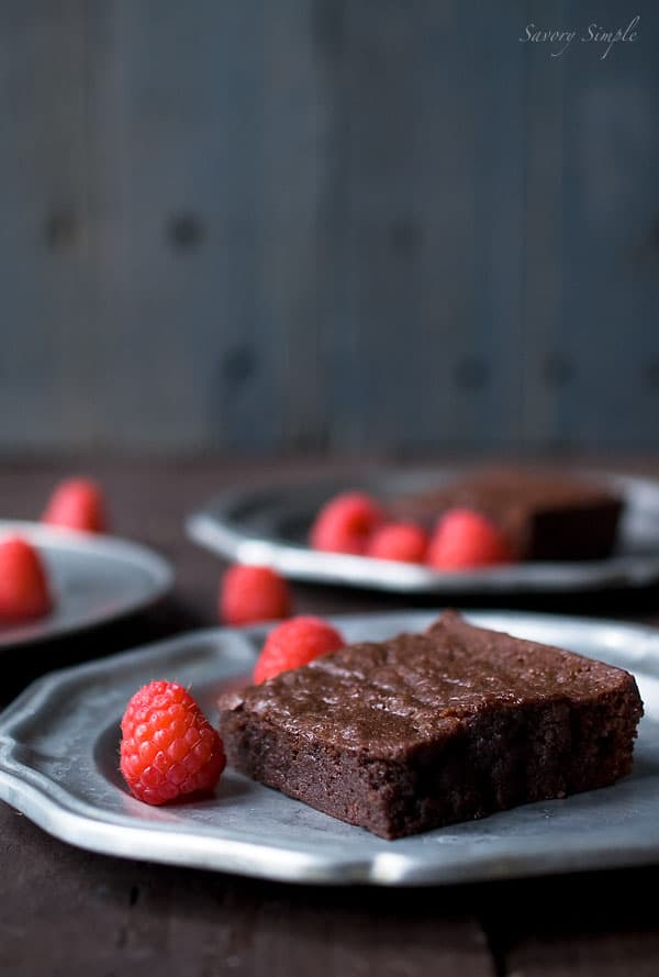 Dark Chocolate Raspberry Brownies Recipe - Savory Simple