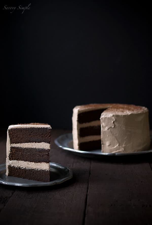 Chocolate Espresso Layer Cake - Savory Simple