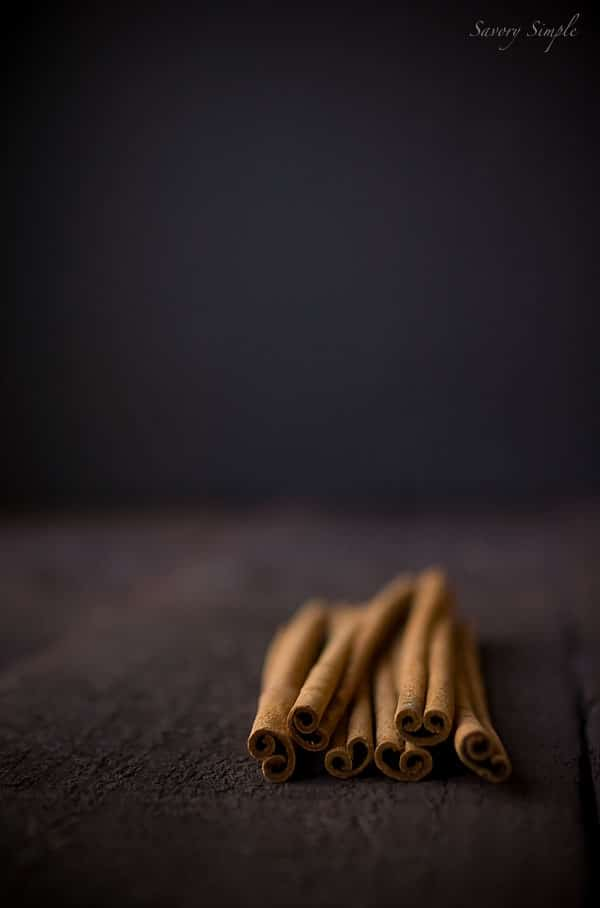 A photo of cinnamon sticks for a horchata recipe.