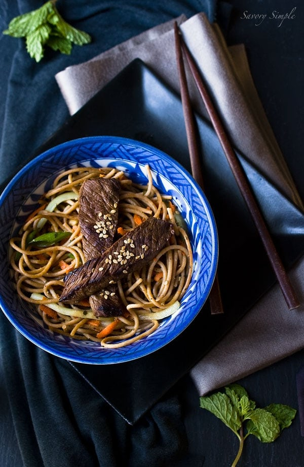 Asian Beef Noodle Salad Recipe