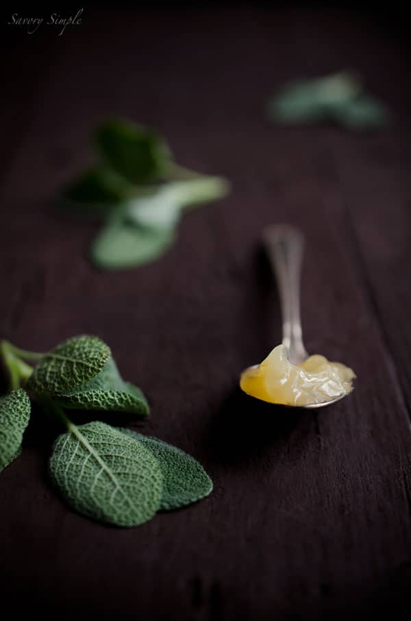 Savory Simple - Lemon Sage Curd #Recipe