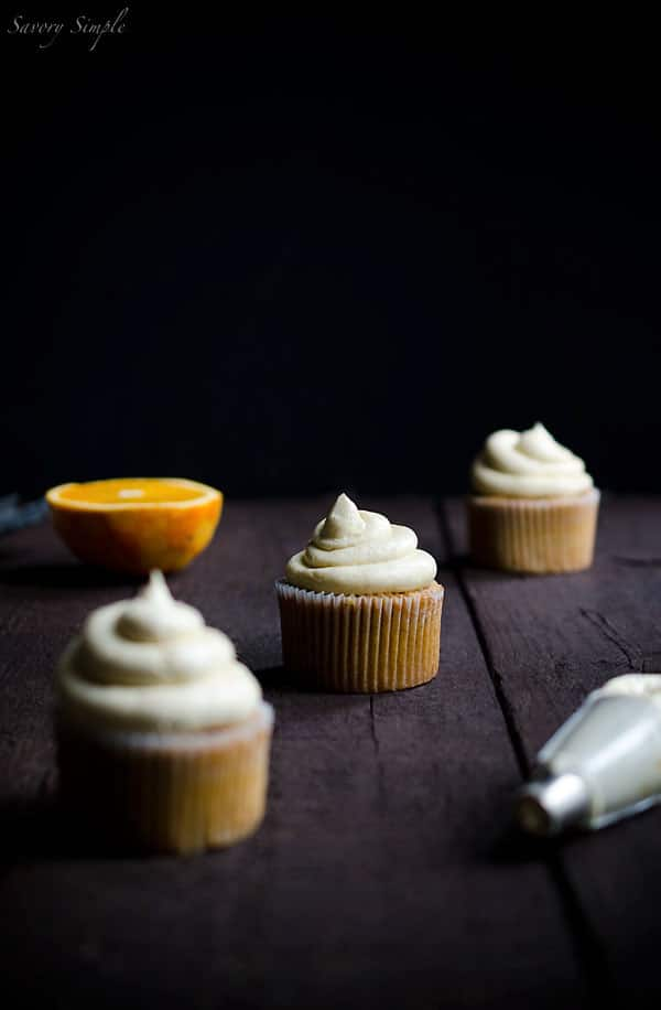 Pumpkin Spiced Cupcakes with Orange Curd - Savory Simple