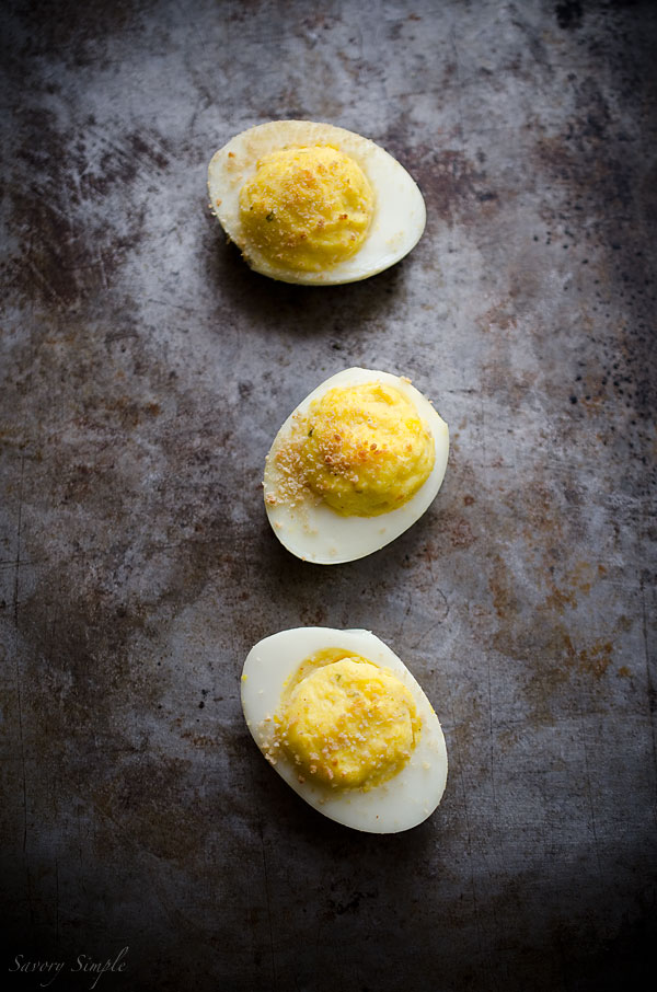 These Boursin Deviled Eggs are a high protein, low carb, cheese-filled treat that make a fantastic snack or party appetizer!