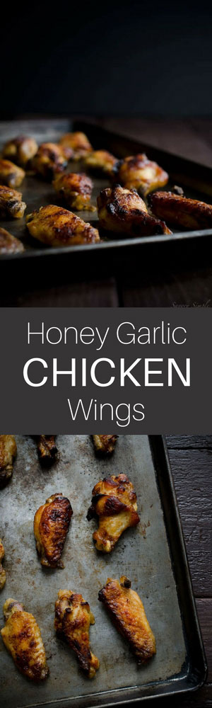 Honey Garlic Chicken Wings come together in no time and are super easy to prepare. The meat just falls off the bones!