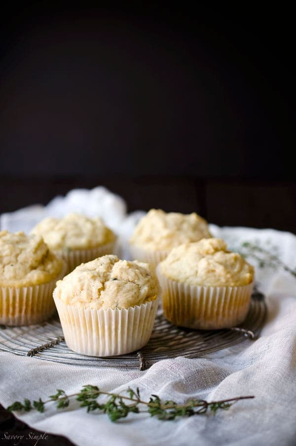 These Honey Thyme Creme Fraiche Muffins are soft, creamy and just slightly sweet with a delicate herbal aftertaste. You won't be able to stop at just one!