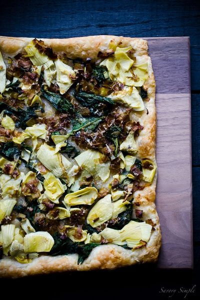 Spinach-Artichoke-Leek-Tart