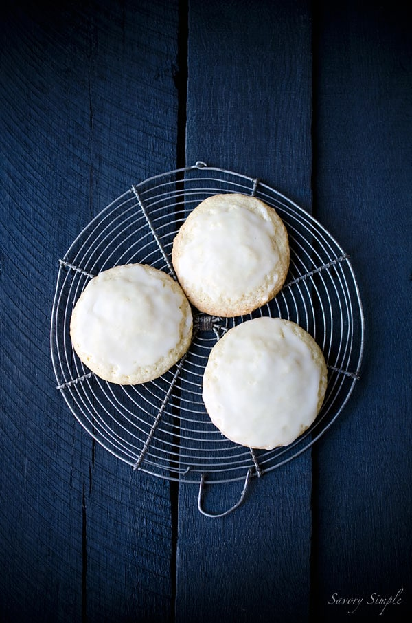 These Glazed Meyer Lemon Cookies are soft and delicate with a sweet, citrus flavor! Get the recipe from SavorySimple.net