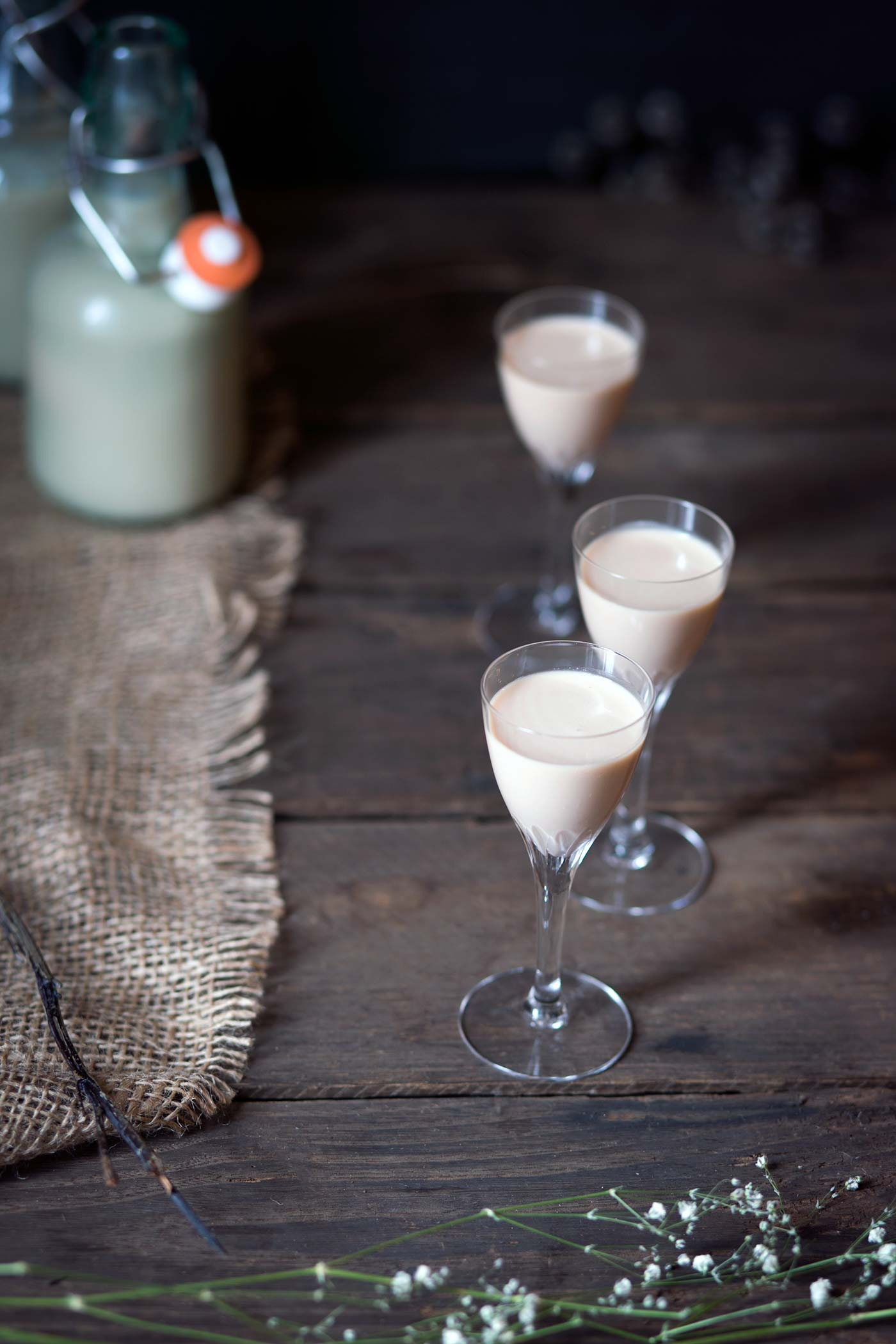 A photo of homemade Irish cream liqueur