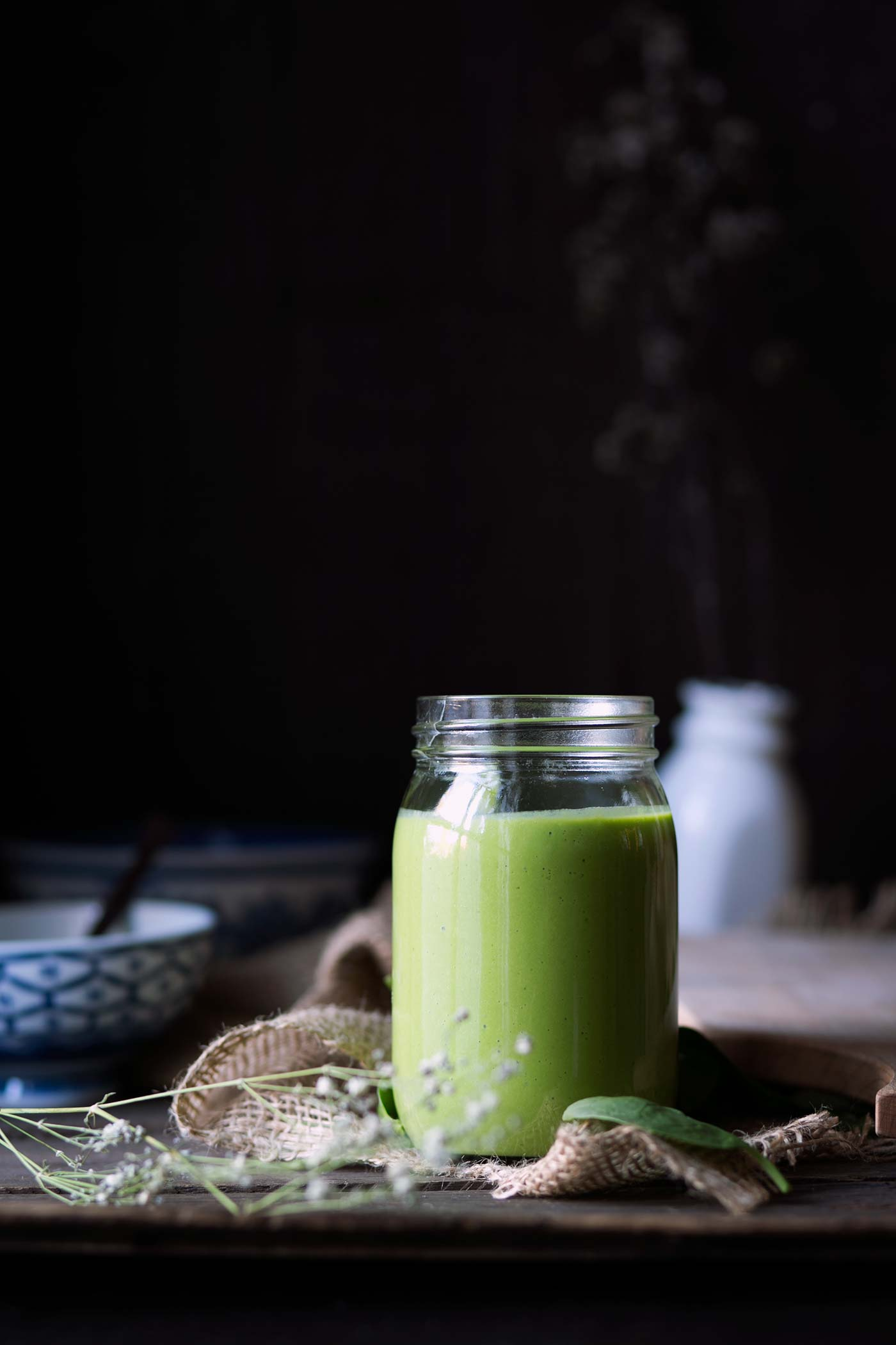This is the BEST green smoothie. It's sweet, healthy and filling. Ingredients include bananas, yogurt, pineapple, mango and spinach (which you cannot taste)! Get the recipe from SavorySimple.net.