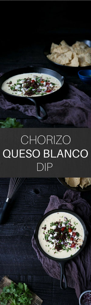 Chorizo Queso Blanco Dip is the ULTIMATE party food! People will beg you for the recipe.
