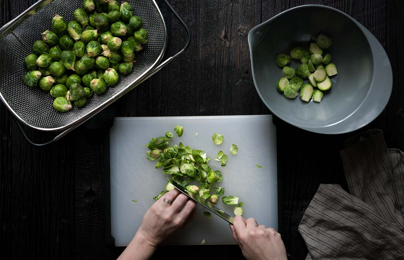 These spicy Kung Pao Brussels Sprouts are a tasty, vegetarian twist on a classic Chinese take-out dish. Get the easy-to-follow recipe from SavorySimple.net