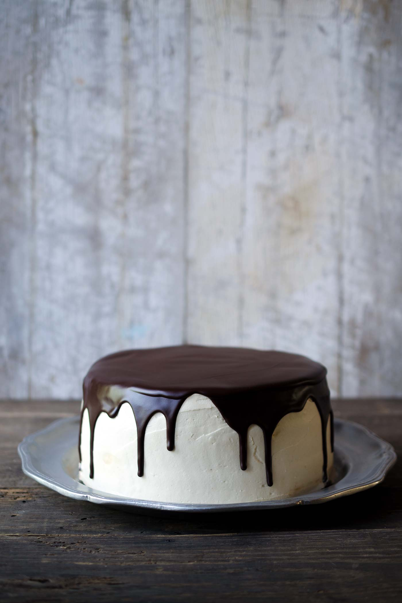 "You don't want to miss this decadent Banana Peanut Butter Layer Cake with Chocolate Ganache, shared from my new cookbook, ""The Gourmet Kitchen: Recipes from The Creator of Savory Simple."""