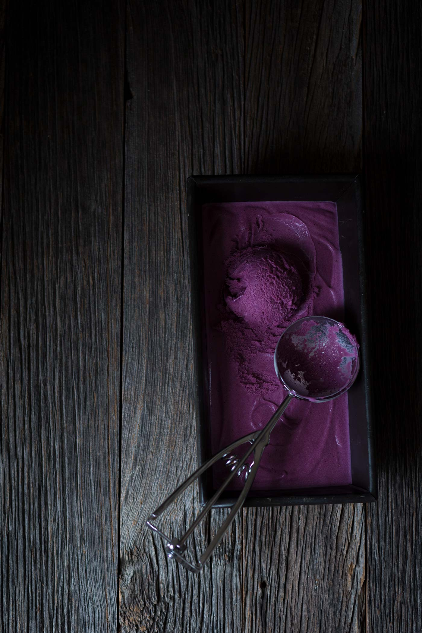 Wild Blueberry Curd Ice Cream is a decadent dessert with a gorgeous color. You need this in your life! Get the recipe from Savory Simple.