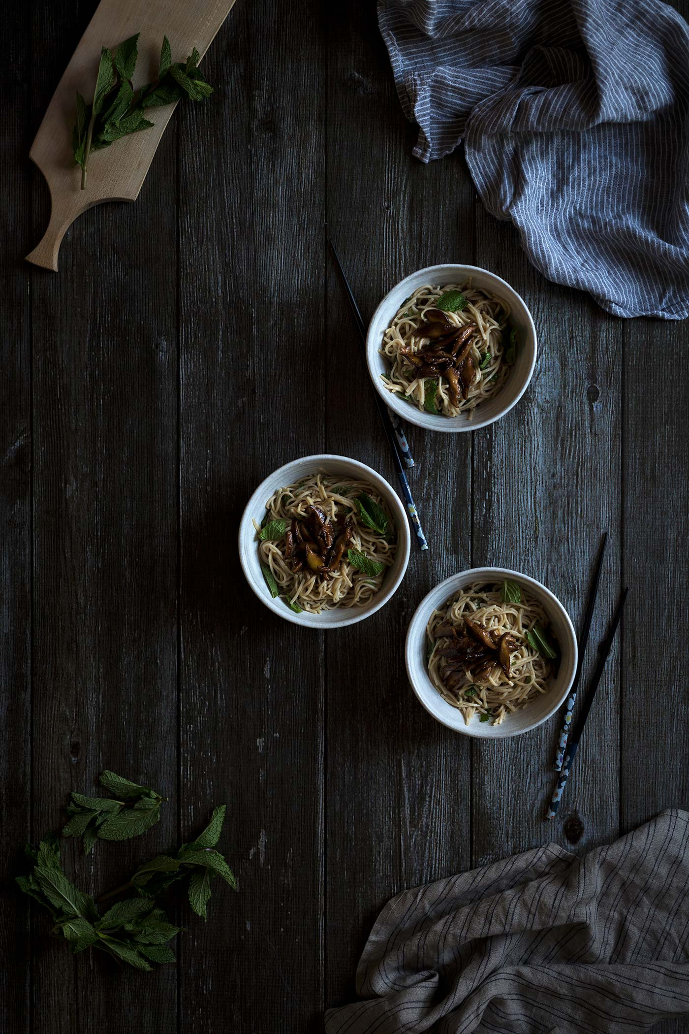 Shiitake Miso Mint Soba Noodles are a quick, flavorful dinner recipe. Get the easy-to-follow recipe from Savory Simple.
