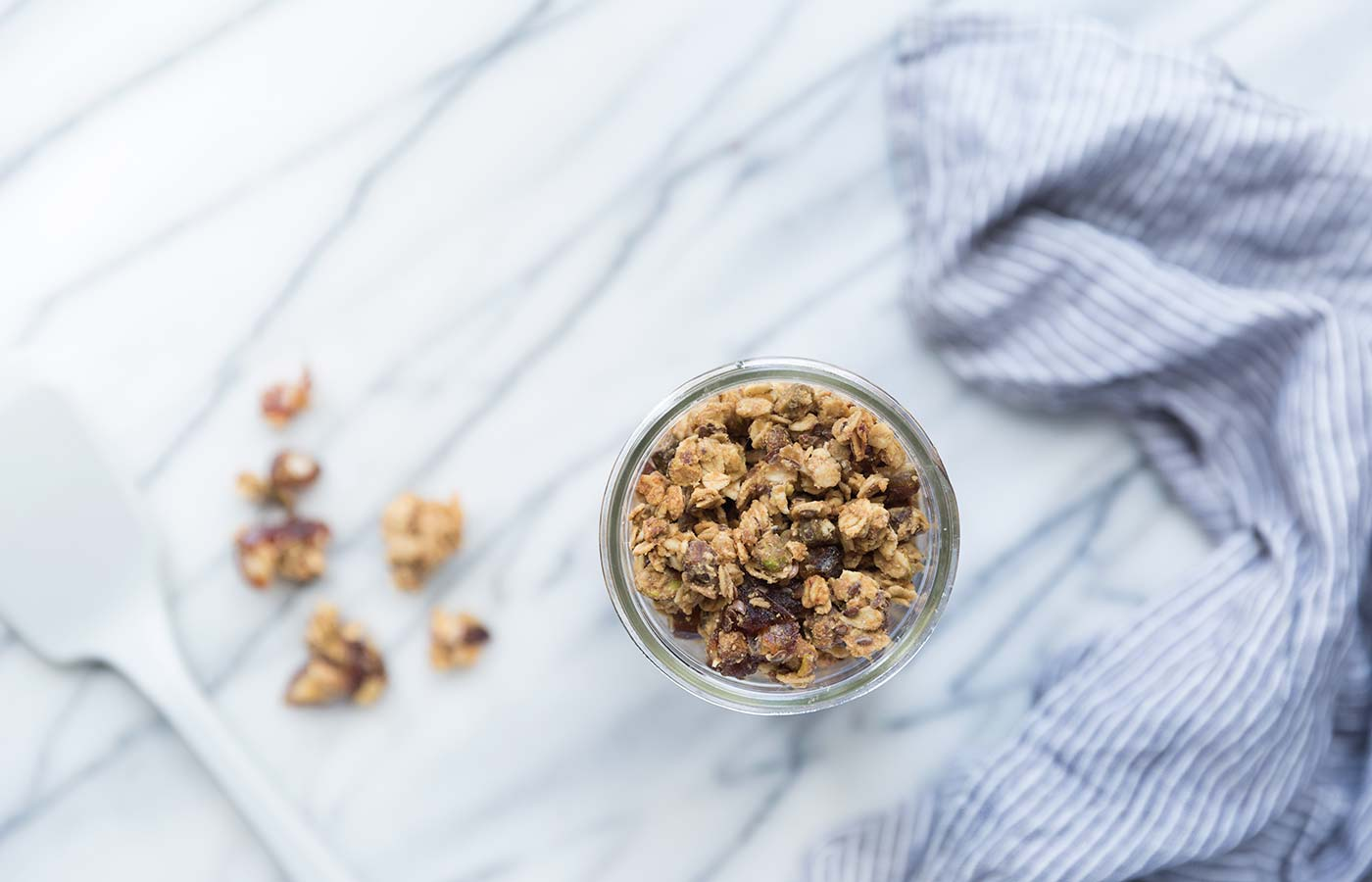 This Tahini Date Pistachio Granola is a healthy, flavorful breakfast! It also mades a perfect midday snack. Get the recipe from Savory Simple.