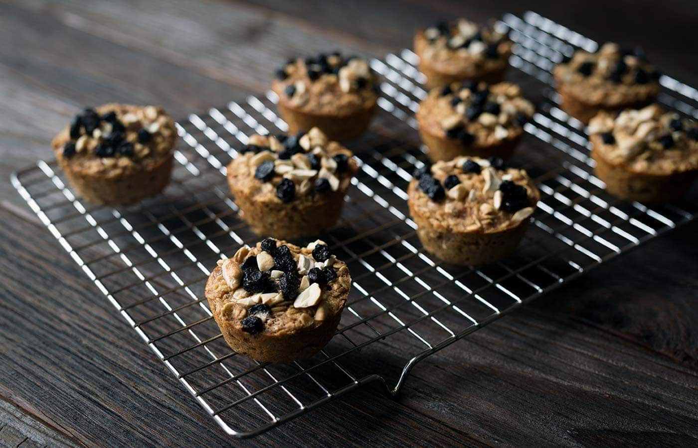Finished baked oatmeal cups