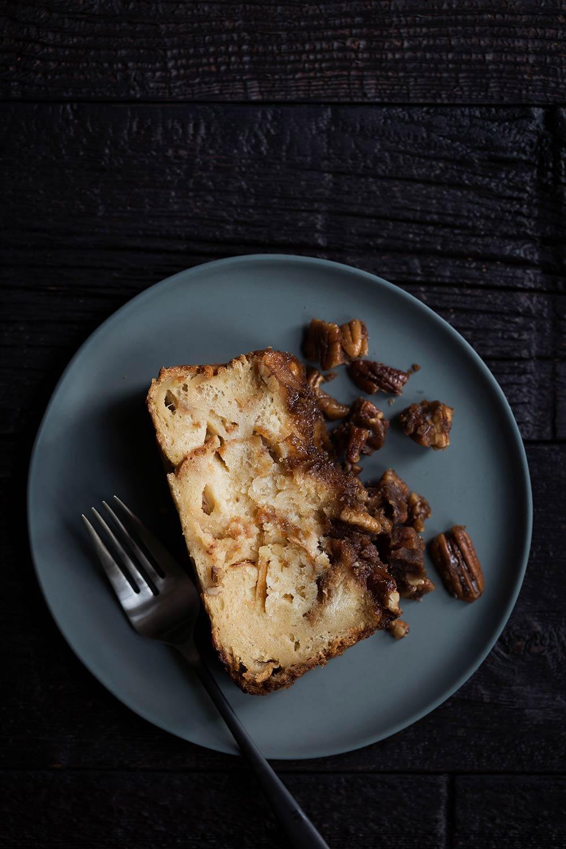 slice of pecan pie french toast