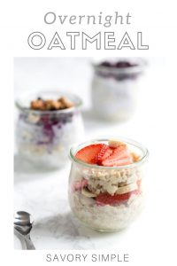 Photo of Overnight Oats with Text Overlay
