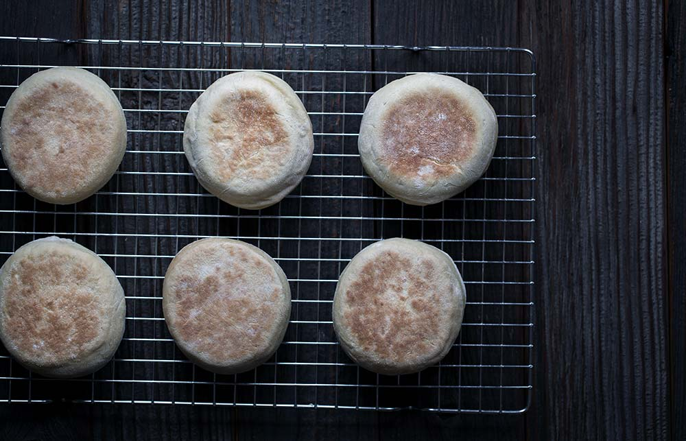 A photo of the best homemade english muffins!