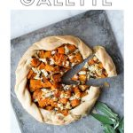Butternut Squash Galette with text overlay.