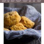 Sweet potato biscuits with text overlay.