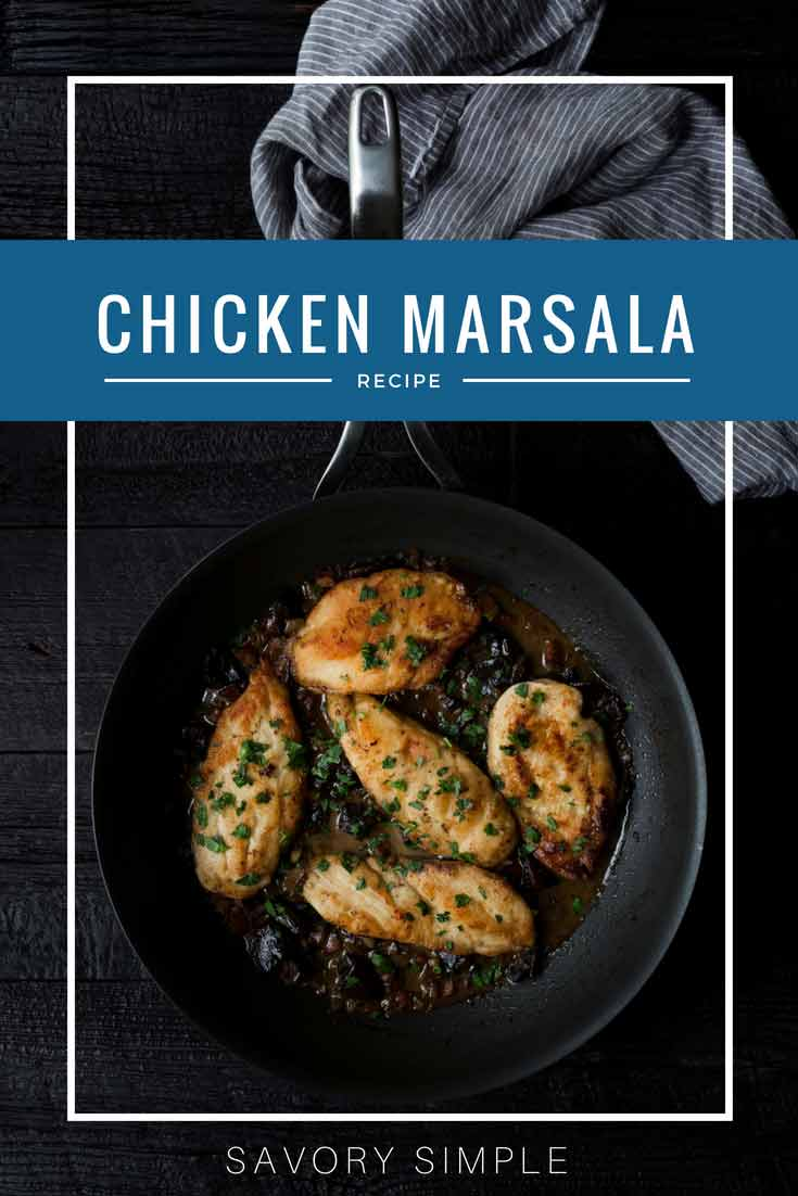Chicken Marsala is an impressive yet surprisingly easy-to-prepare meal! It's savory and rich, with a creamy mushroom sauce that bursts with flavor and texture. This chicken Marsala recipe includes step-by-step photo instructions!