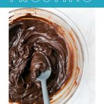 This Sour Cream Chocolate Frosting is creamy, tangy, and it comes together in no time! It works well with many cake and cupcake recipes, and can be customized for more or less sweetness. You can also adjust for a thicker or thinner chocolate frosting consistency.