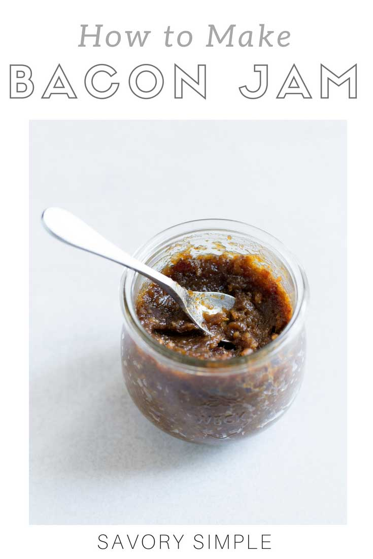 Bacon Jam is a sweet and savory condiment that tastes incredible on burgers, sandwiches, or simply spread on toast. Try it on a grilled cheese, BLT, or bacon, egg and cheese sandwich! This bacon jam recipe will make your kitchen smell amazing as it simmers on the stove.