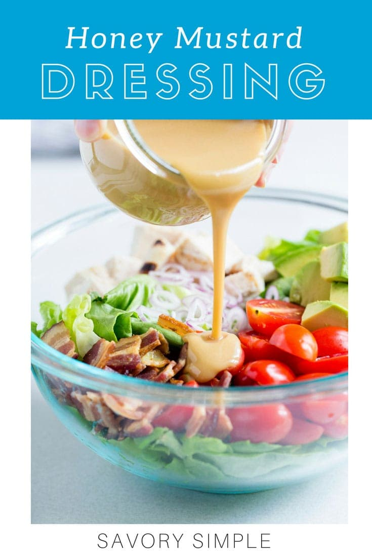 There's nothing like homemade Honey Mustard Dressing. This honey mustard salad dressing recipe comes together in no time using Dijon mustard, honey, apple cider vinegar, and olive oil!