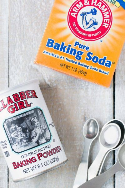 Baking soda versus baking powder