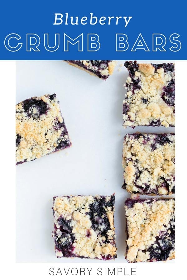 These delicate blueberry bars are loaded with blueberries! Flaky shortbread dough is used for both the topping and crust. Lemon juice & zest add brightness. If you're looking for a blueberry crumb bars recipe, look no further! #blueberry #blueberries #recipe #crumb #bars