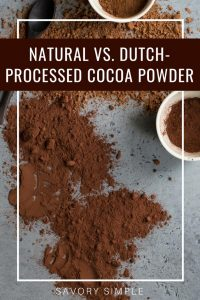 cocoa powder photo with text overlay