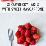 Strawberry tart with text overlay