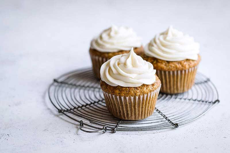 landscape photo of carrot cupcake recipe