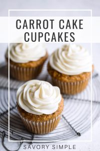 Carrot cupcake photo with text overlay
