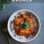 Chicken Tikka Masala photo with text overlay