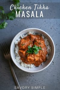 Chicken Tikka Masala photo with text overlay