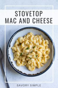 mac and cheese photo with text overlay