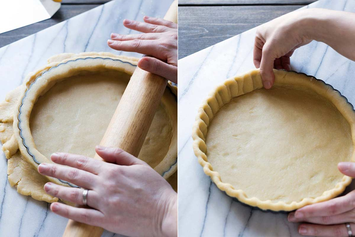 Shaping tart dough