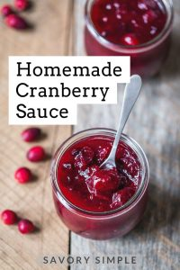 Homemade cranberry sauce photo with text overlay