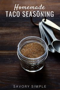 Homemade Taco Seasoning with Text Overlay
