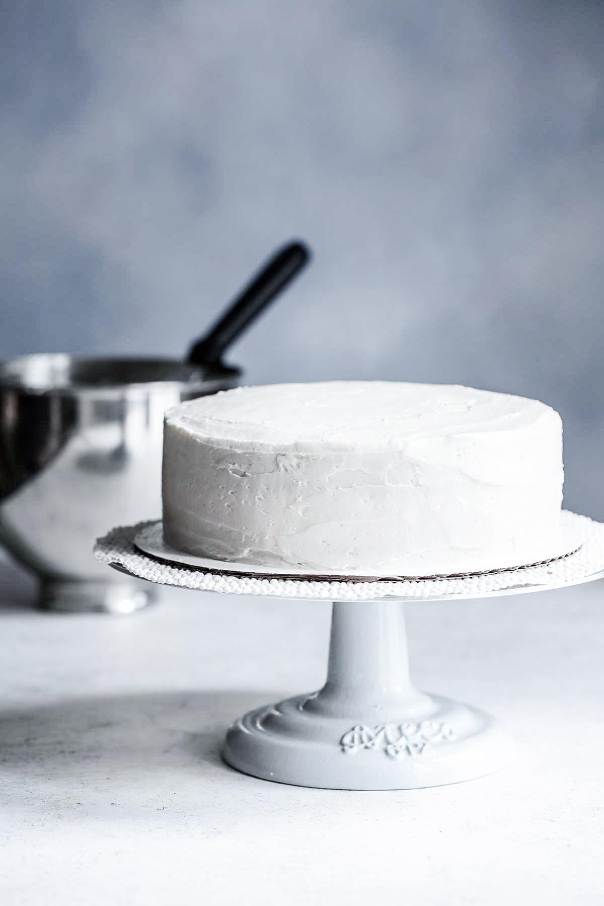 Amazing Homemade White Cake Recipe Step By Step Photos Savory Simple Personalised Birthday Cards Petedlily Jamesorg