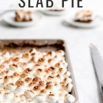 S'mores Slab Pie with Text Overlay