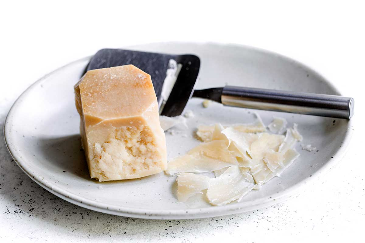 parmesan cheese on a plate