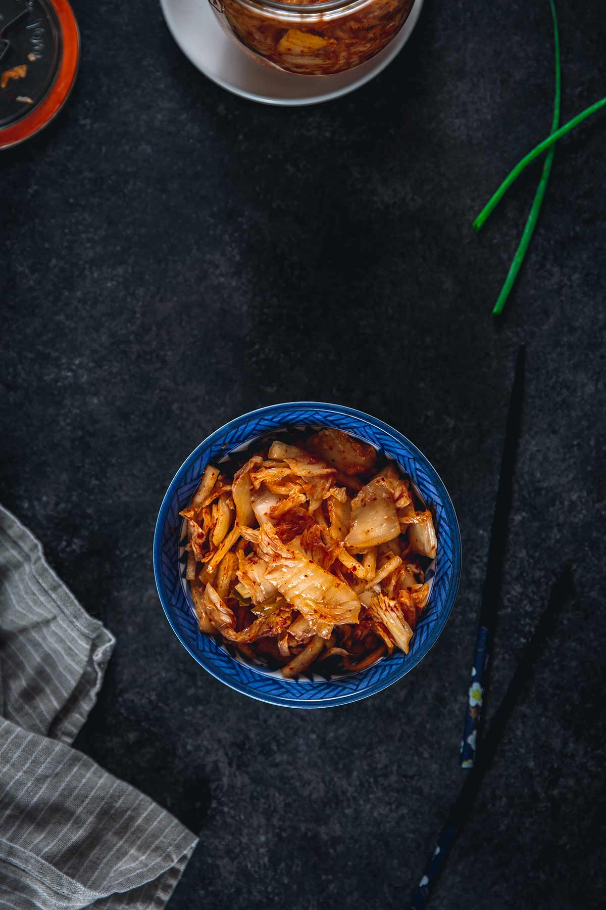 Homemade Kimchi in a bowl