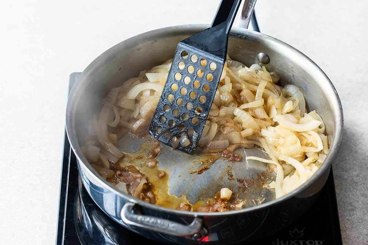 cooking on stovetop