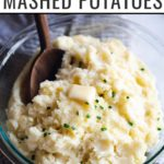 This cheesy mashed potatoes recipe will be a hit with your family and friends! Sharp cheddar cheese packs in tons of savory flavor.
