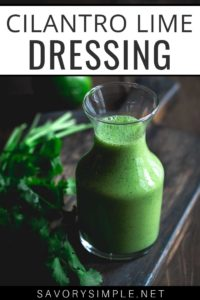 This creamy cilantro lime dressing recipe takes only a few minutes to prepare and tastes amazing!