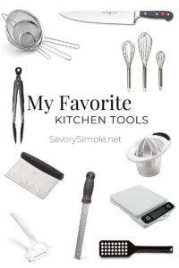 Collage of top kitchen tools